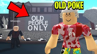 I Found An OLD PEOPLE ONLY Home.. So I Went Undercover! (Roblox)