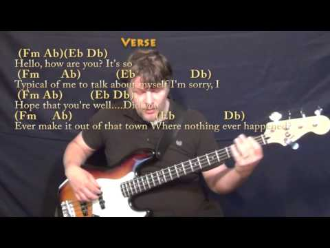 Hello (Adele) Bass Guitar Cover Lesson in Fm with Chords/Lyrics