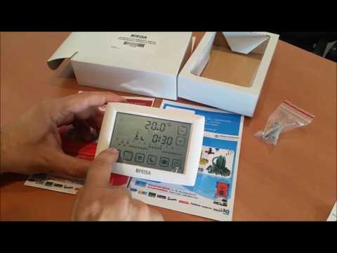 Termostato PEISA TOUCH Programable H23100 - Tutorial