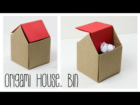 Origami Trash Bin Tutorial - DIY - Paper Kawaii