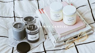 DIY Scented Soy Wax Candles