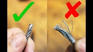 How to keep steel wire cable ends together