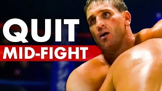 10 Fighters That Abruptly Quit Mid-Fight