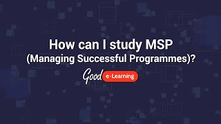 How can I study Managing Successful Programmes (MSP)?