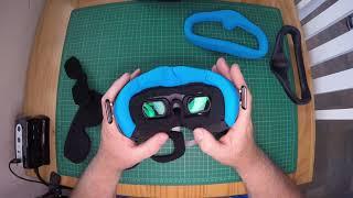Ultimate DJI FPV Goggle custom foam modification, zero light leak and the ultimate in comfort.