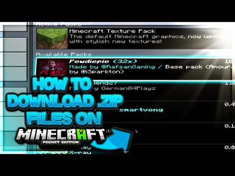Download Mcpe How To Install Any Zip File On Ios Devices For Minecra
