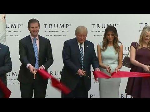 ترامب يفتتح فندقه الفاخر في قلب واشنطن