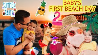 Baby's FIRST BEACH DAY In Pandemic ,Sentosa Island Sunny Singapore CHRISTMAS VLOG