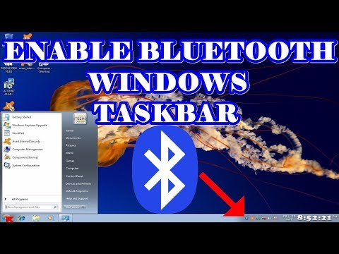 Enable Bluetooth Icon in Windows 7