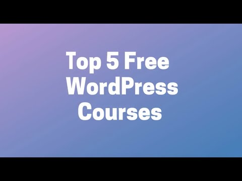 5 free online course to learn #WordPress - YouTube