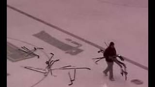 SLU Hockey- George Frank Equipment Manager Drops Sticks