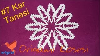 Kağıttan En Güzel Kar Tanesi Yapımı #7 Kar Tanesi Nasıl Yapılır. (Origami Köşesi)