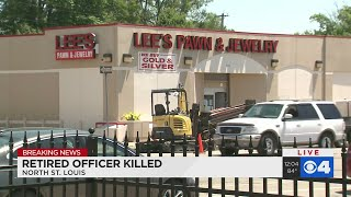 RETIRED POLICE CAPTAIN SHOT BY LOOTER OUTSIDE NORTH ST. LOUIS PAWN