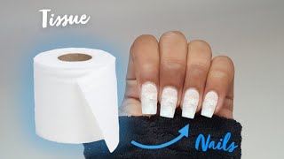Fake Nails Out Of Tissue | Tissue Nails At Home | Easy DIY