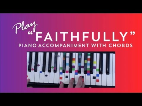 How To Play Sing Faithfully Journey Easy Piano Chord Lesson Ivoreez