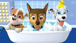 PAW Patrol: A Day in Adventure Bay - Chase, Ryder Mighty Pups Mission - Pups Learn Daily Routine HD