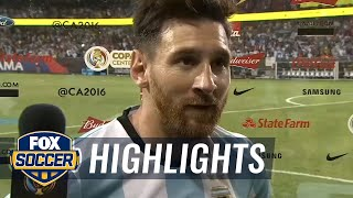 Messi discusses Argentina's 5-0 victory over Panama | Copa America Highlights by FOX Soccer