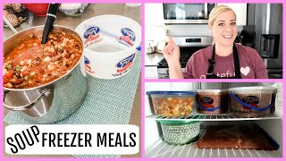 4 HEALTHY SOUP FREEZER MEALS // COOK WITH ME