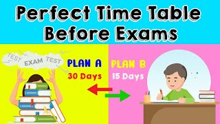 Best TIMETABLE Before EXAMS (30 & 15 )DAYS PLAN| #Studytimetable #topperstudyhacks #ABetterlife