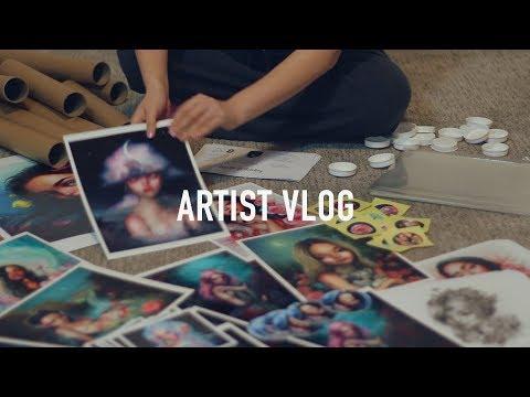 Packaging, plants, and more studio decor 🎨 ARTIST VLOG 43