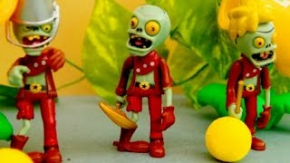 Зомби. Нападение ЗОМБИ! Plants vs zombies. Мультик для детей. Растения против зомби