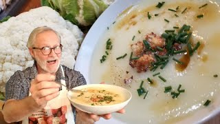 CREAM Of CAULIFLOWER SOUP!  LOW CARB, LOW CALORIE , HIGH FIBER, KETO