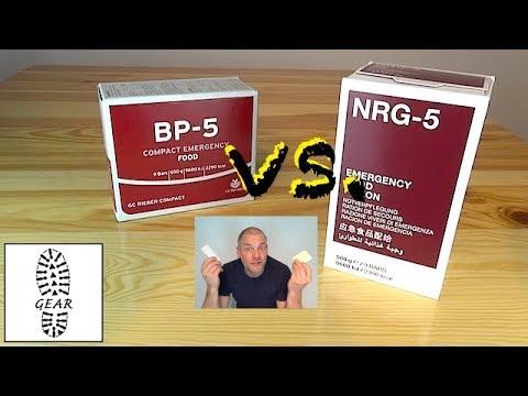 Vergleich der Langzeitnahrung BP-5 + NRG-5