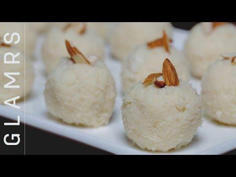2 Ingredient Tasty Coconut Laddoo – Quick & Easy Vegetarian Desi Dessert Recipes