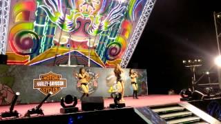 2013.10.2 統一17噸超大型舞台in2013哈雷騎士烏托邦。旗津沙灘煙火台式餐廳秀。