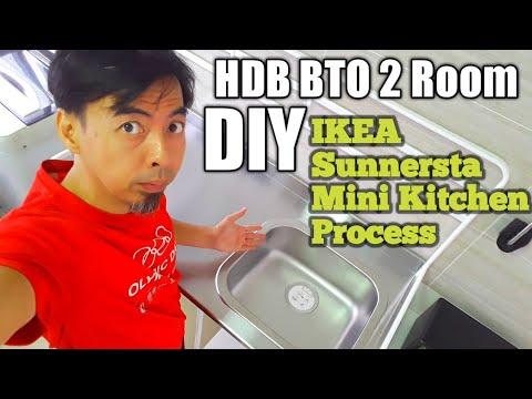 HDB BTO 2 Room DIY Ikea Sunnersta Mini Kitchen process