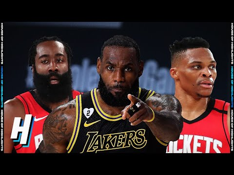 Houston Rockets vs Los Angeles Lakers – Full Game 2 Highlights   September 6, 2020 NBA Playoffs