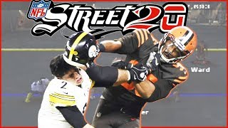 HE HIT HIM WITH A HELMET! Myles Garrett & Mason Rudolph Take It To The Streets!  (NFL Street 20)