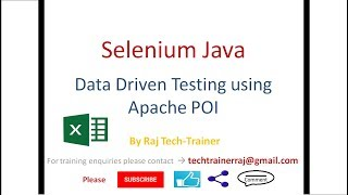 Selenium Java Data Driven Test Case Example using Apache POI Excel Library
