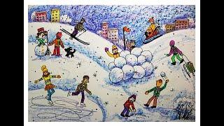 Смотреть онлайн Урок поэтапного рисования человека для детей 6-8 лет