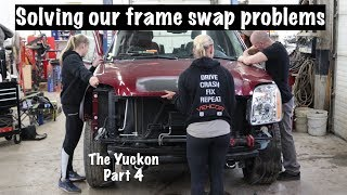 Solving our frame swap problems and getting the Yukon back together for paint.  The Yuckon part 4.