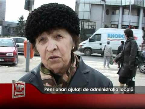 Pensionari ajutaţi de administraţia locală