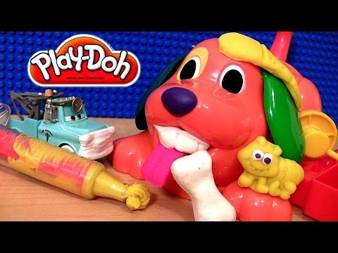 Play Doh Doggy Doctor Playset With Disney Cars Doctor Mater