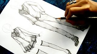 How To Draw Anime Uniform NO TIMELAPSE For Both Male And Female [Anime Clothing Tutorial]