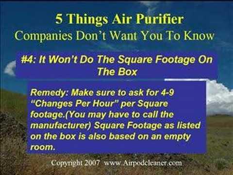 Video 5 Things Air Purifier Companies Won't Tell You - SHOCKING!
