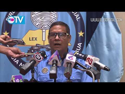 Policía presenta a terroristas que cometieron delitos en León y Masaya
