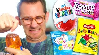 AMERICAN TRIES BRITISH SWEETS!