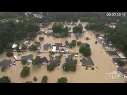 فيضانات ولاية لويزيانا ،، تصوير من المروحية .