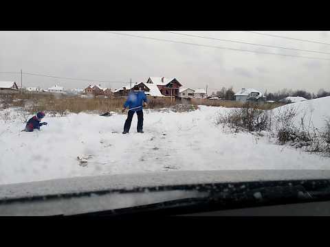 Зазим'є. Сніг. 1 грудня. Очищення дороги.