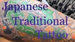 [Irezumi] 総手彫り 風神と龍の完成。(Japanese Traditional Tattoo)