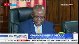 AG Githu Muigai talks about the planned swearing in of Raila Odinga as the people's president