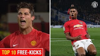 Ronaldo or Rashford? I Top 10 Free-Kicks I Manchester United