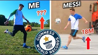 Can I break pro footballers world records?  INSTAGRAM: http://bit.ly/IGkierandb TWITTER: https://twitter.com/KieranBrown  Social distancing measures were practiced in the making of this video.  Football Guiness world record challenge   Kieran Brown.