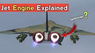 Jet Engine - How A Jet Engine Works? Afterburning Turbofan Vs Turbofan Engine