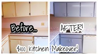 UNDER $100 KITCHEN MAKEOVER | How To Transform Your Kitchen! Simply Subrena