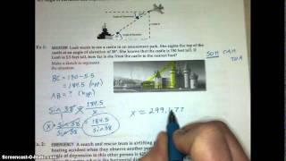 Lesson 8.5 Angles Of Elevation And Depression Video Notes